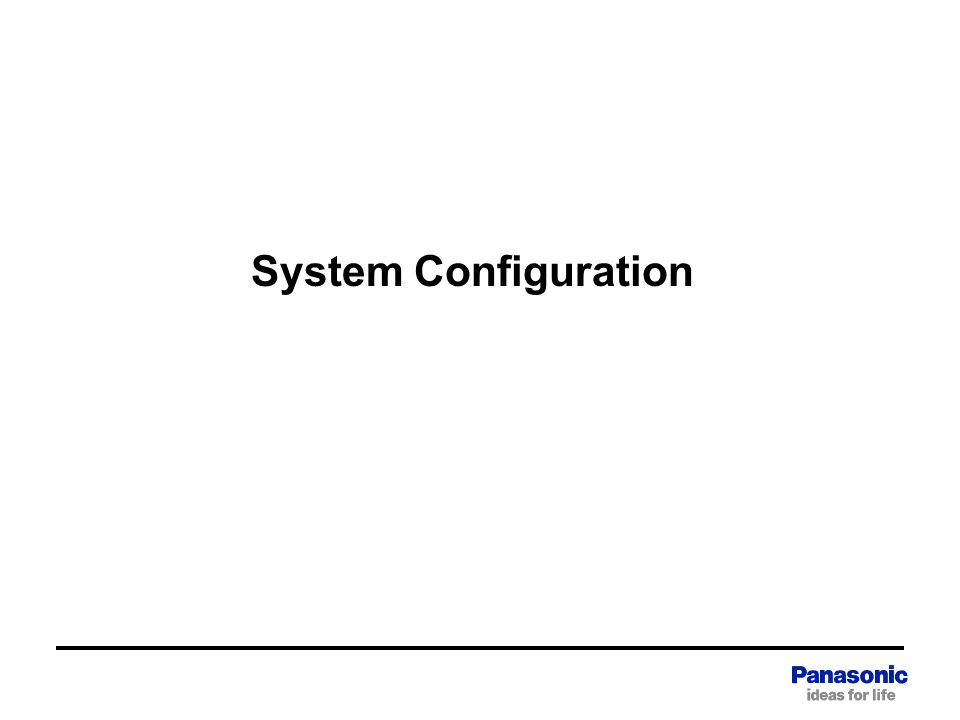 System Configuration