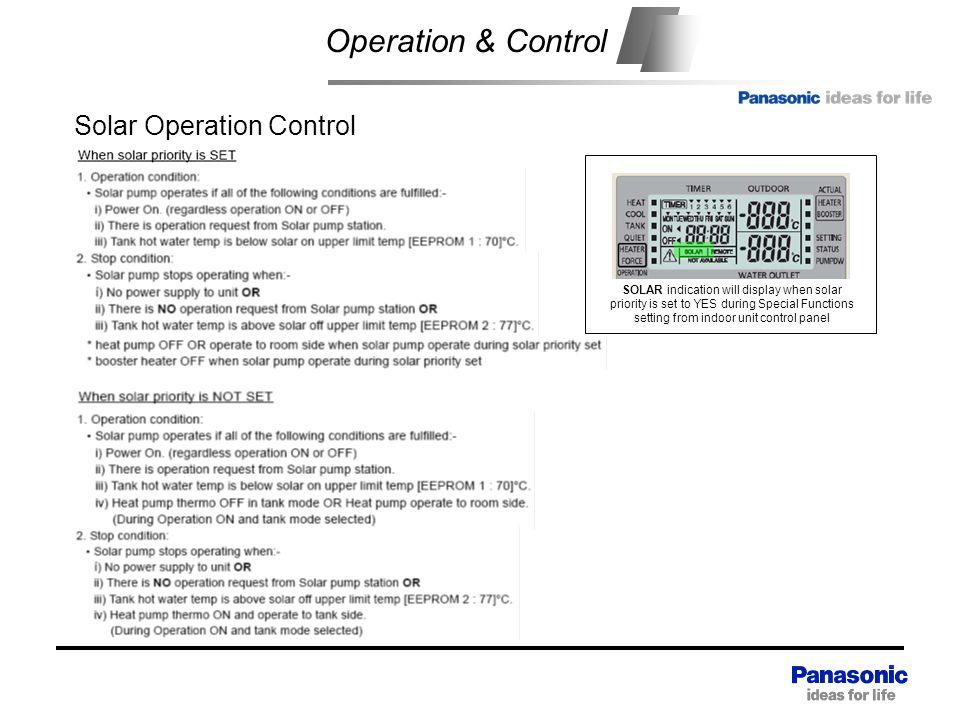 Operation & Control Solar Operation Control