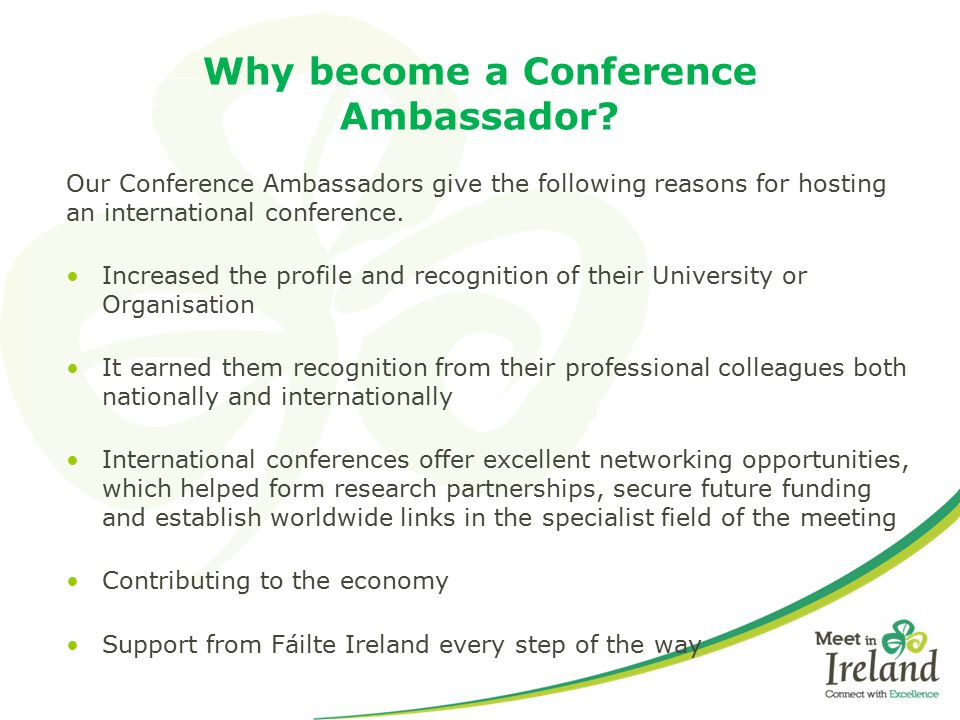 Why become a Conference Ambassador