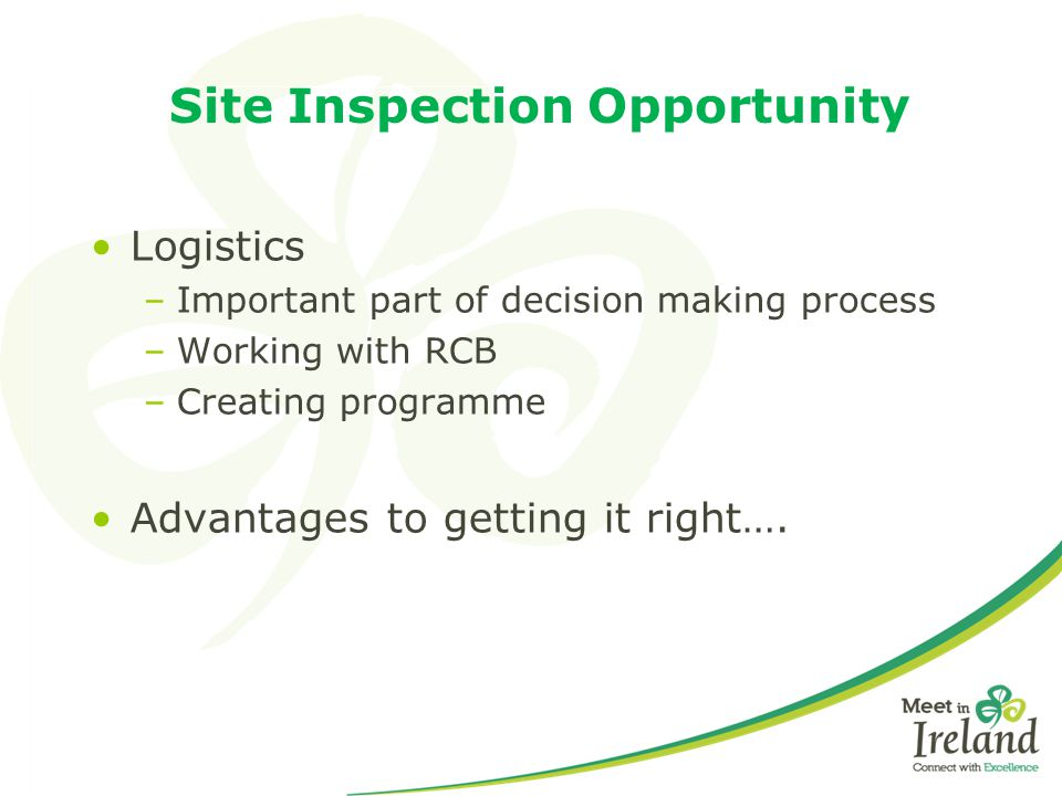 Site Inspection Opportunity