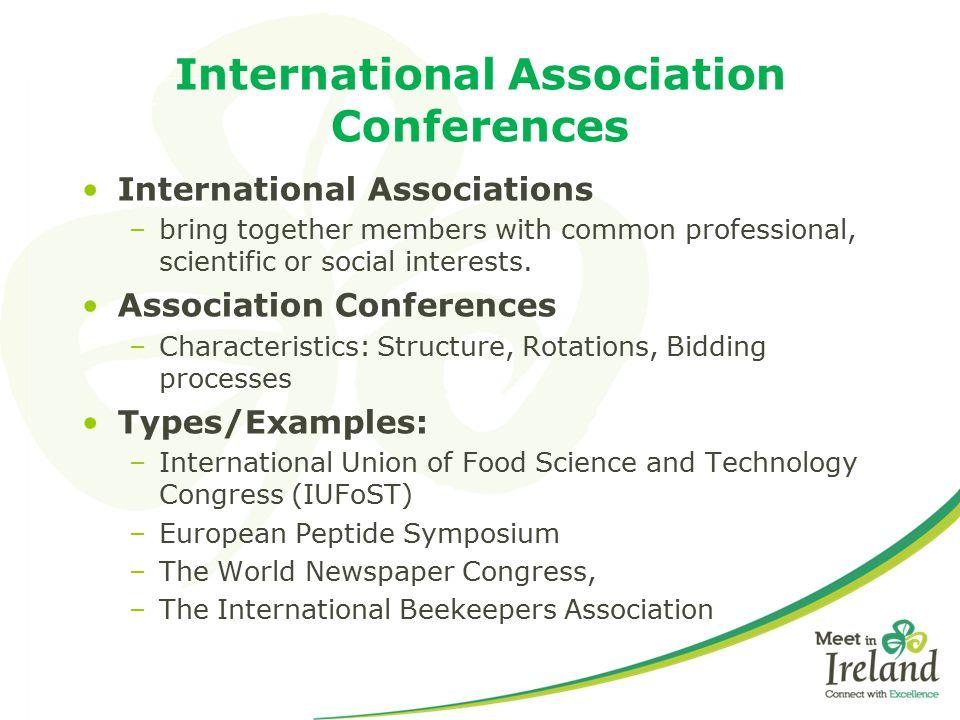 International Association Conferences
