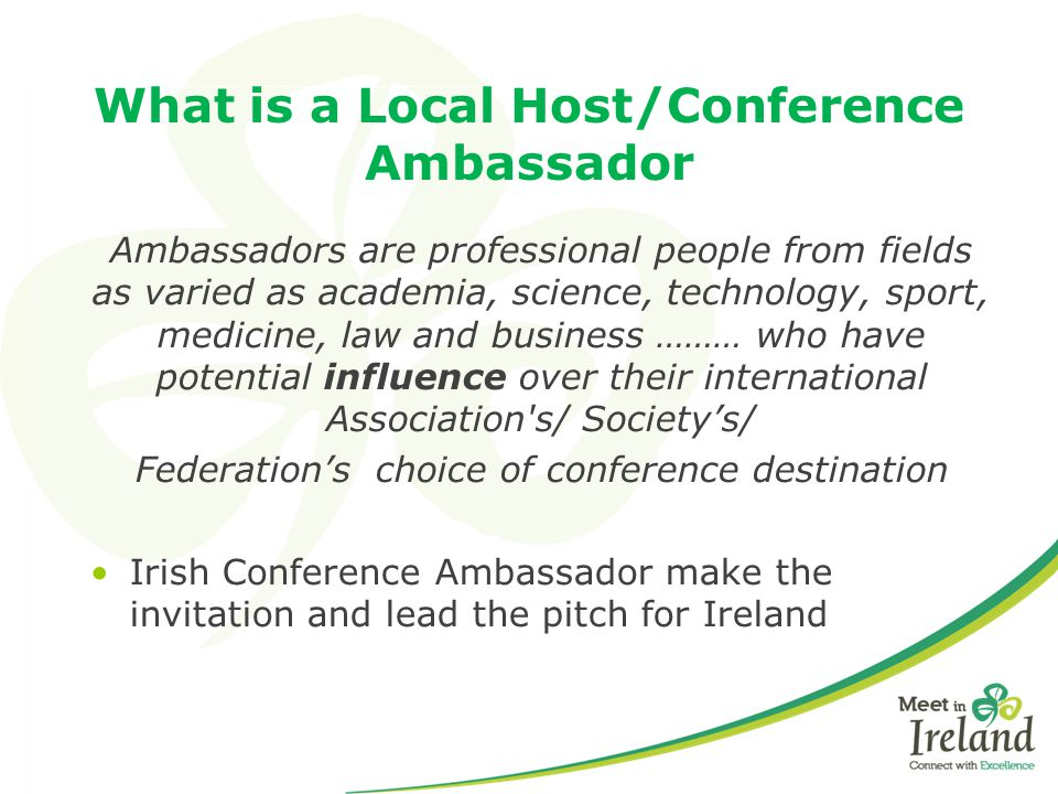 What is a Local Host/Conference Ambassador