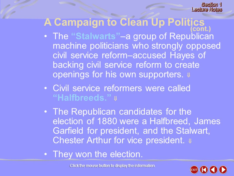 A Campaign to Clean Up Politics