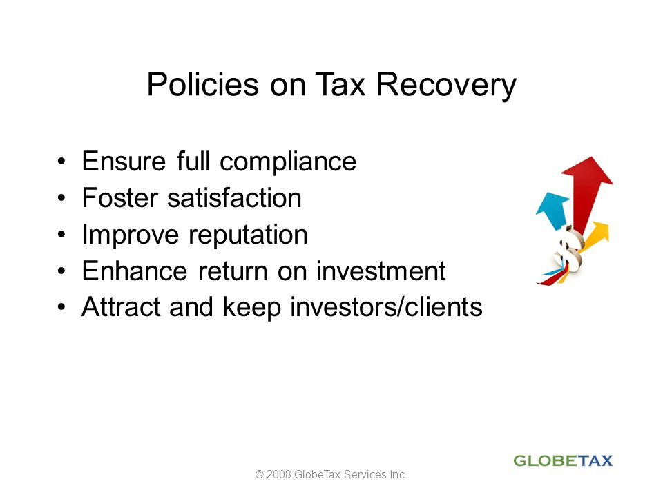Policies on Tax Recovery