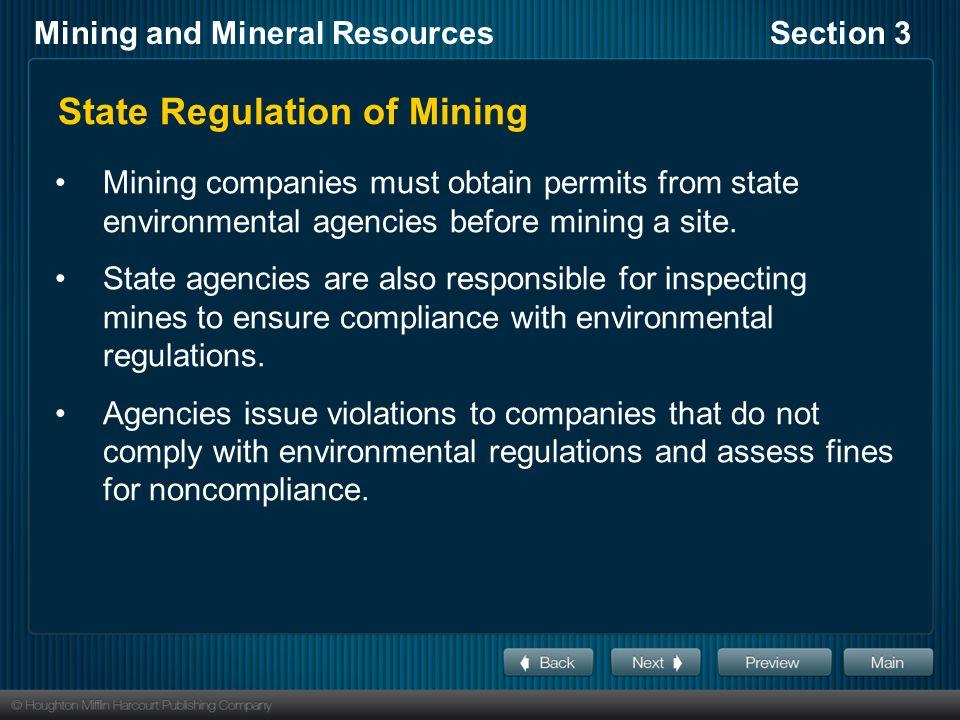 State Regulation of Mining