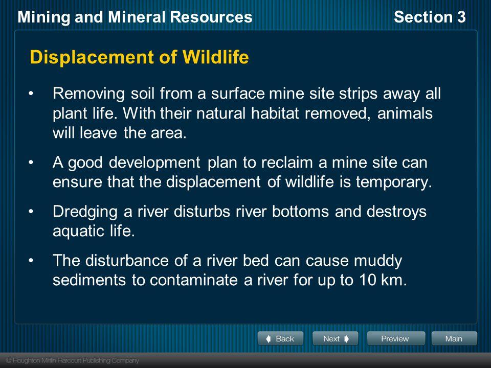 Displacement of Wildlife