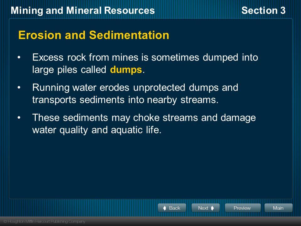 Erosion and Sedimentation