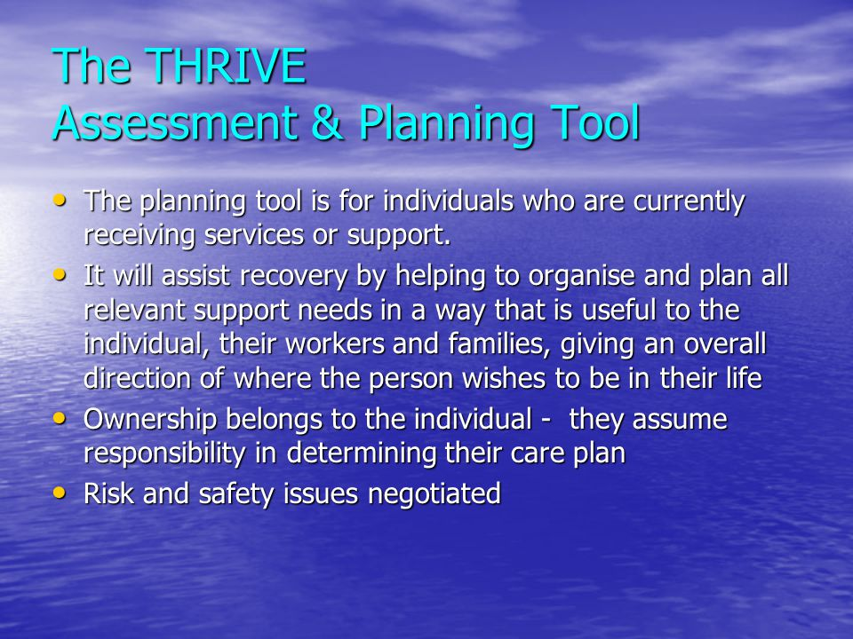 The THRIVE Assessment & Planning Tool