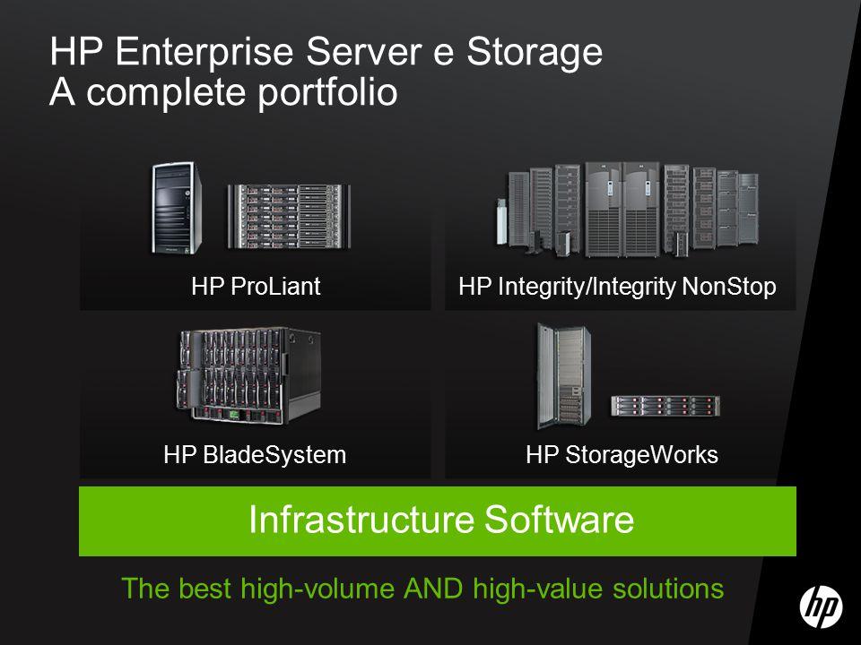 HP Enterprise Server e Storage A complete portfolio