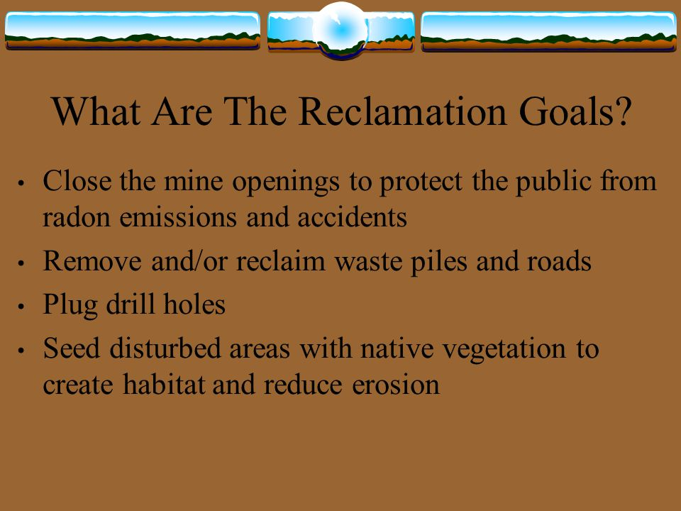 What Are The Reclamation Goals