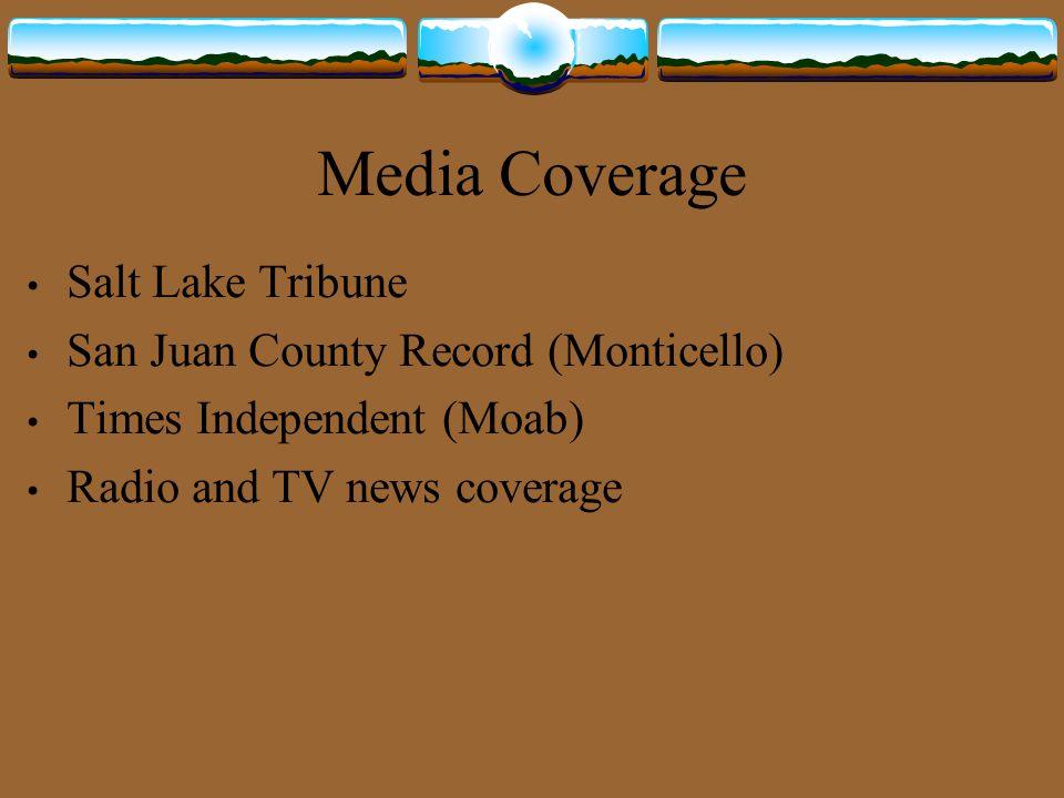 Media Coverage Salt Lake Tribune San Juan County Record (Monticello)
