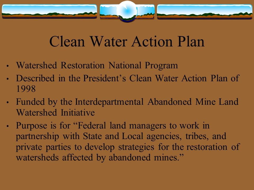 Clean Water Action Plan
