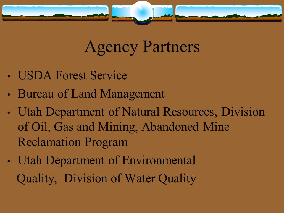 Funding federal agencies interdepartmental abandoned mine for Bureau land management