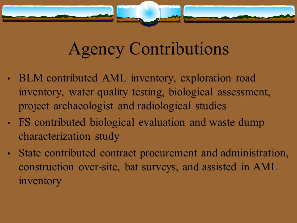Agency Contributions