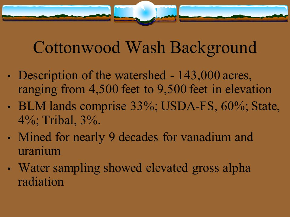Cottonwood Wash Background