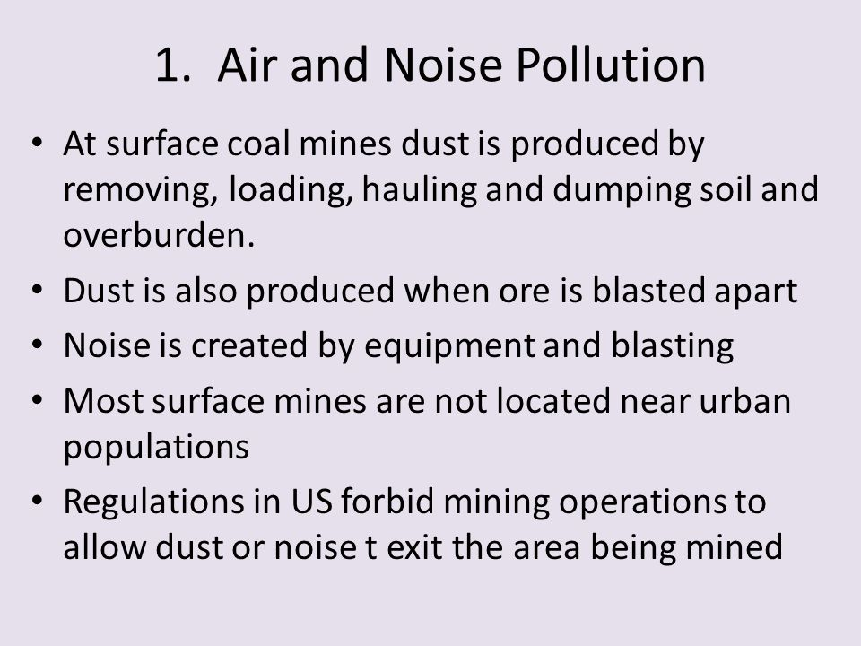 1. Air and Noise Pollution