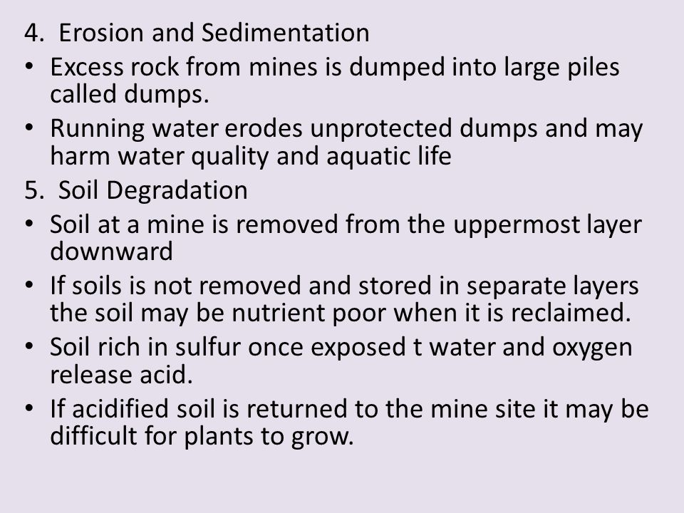 4. Erosion and Sedimentation
