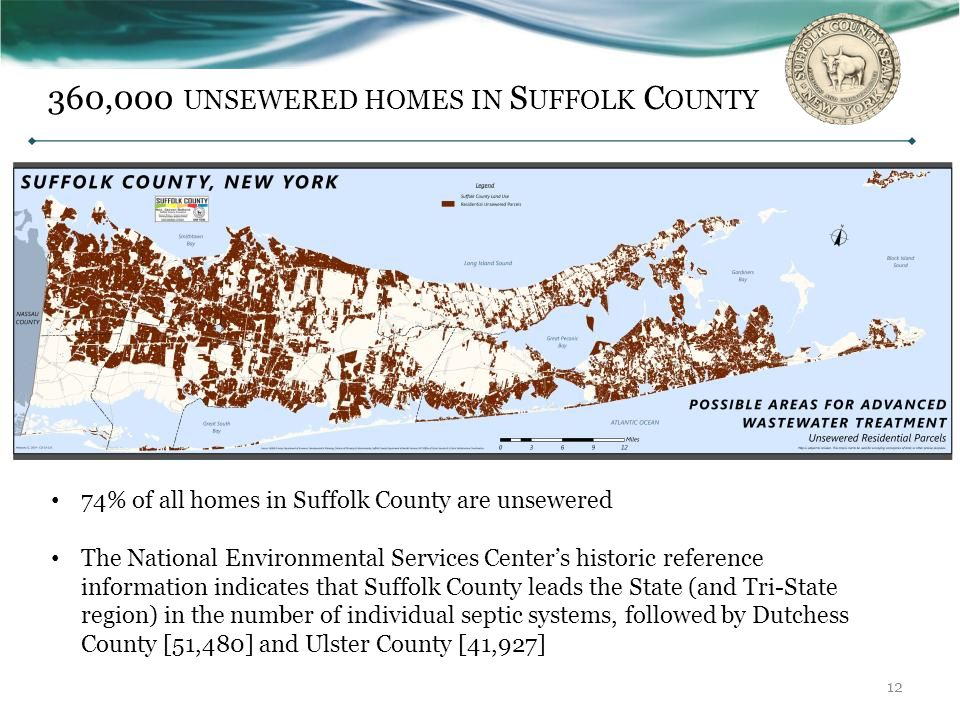 360,000 unsewered homes in Suffolk County