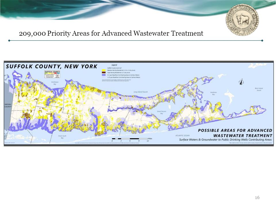 209,000 Priority Areas for Advanced Wastewater Treatment