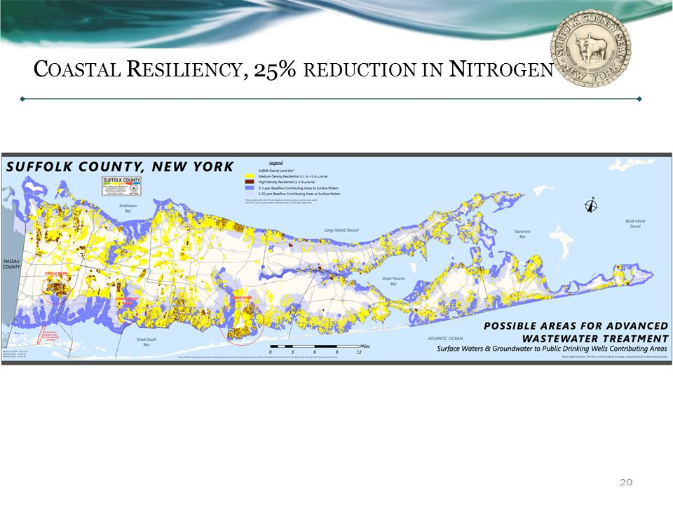 Coastal Resiliency, 25% reduction in Nitrogen