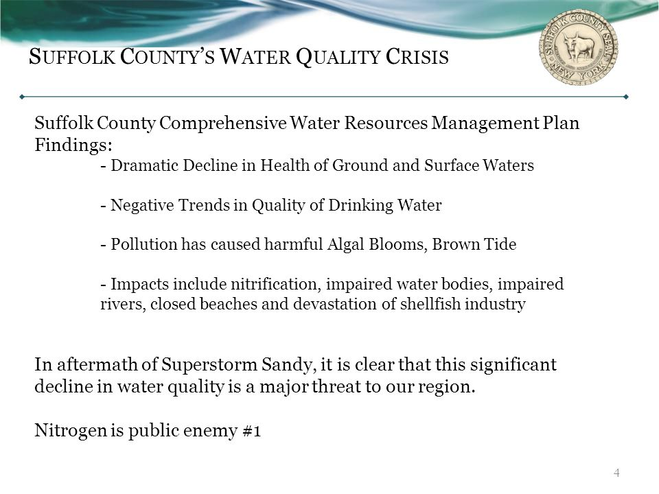 Suffolk County's Water Quality Crisis