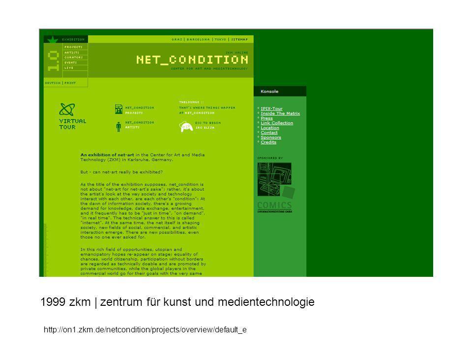 1999 zkm | zentrum für kunst und medientechnologie