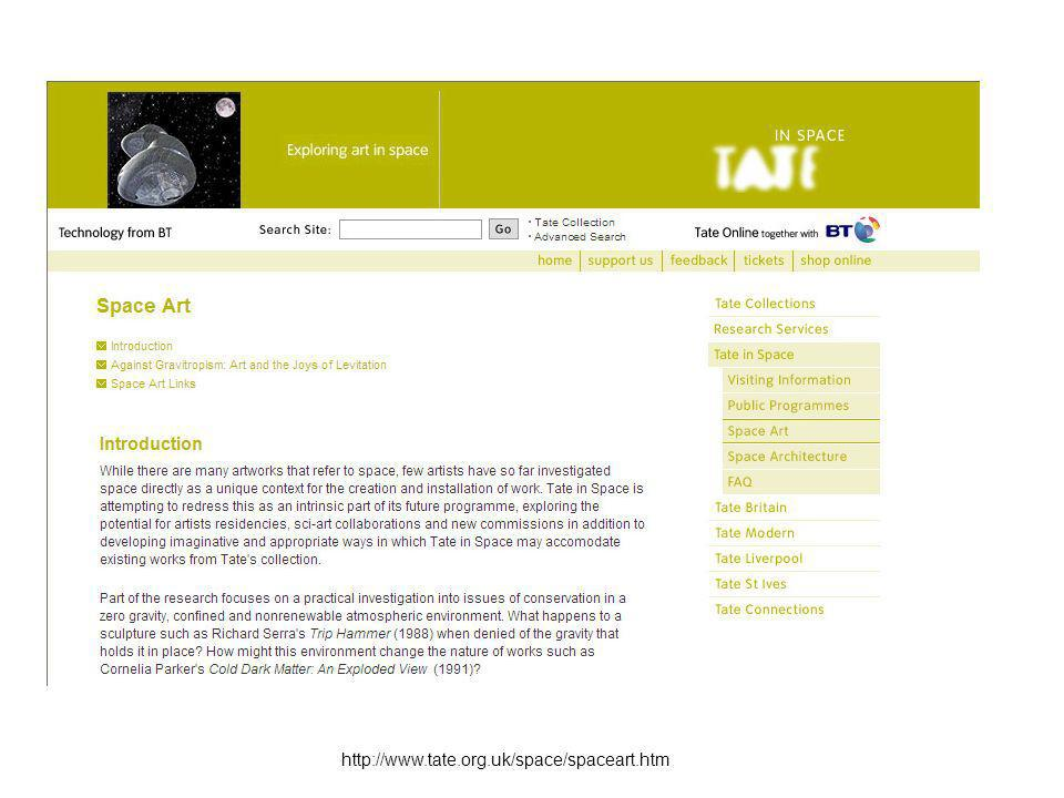 http://www.tate.org.uk/space/spaceart.htm