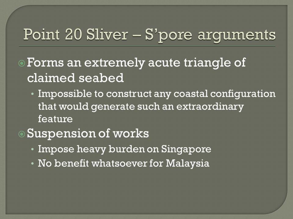 Point 20 Sliver – S'pore arguments