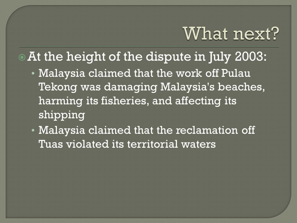 What next At the height of the dispute in July 2003: