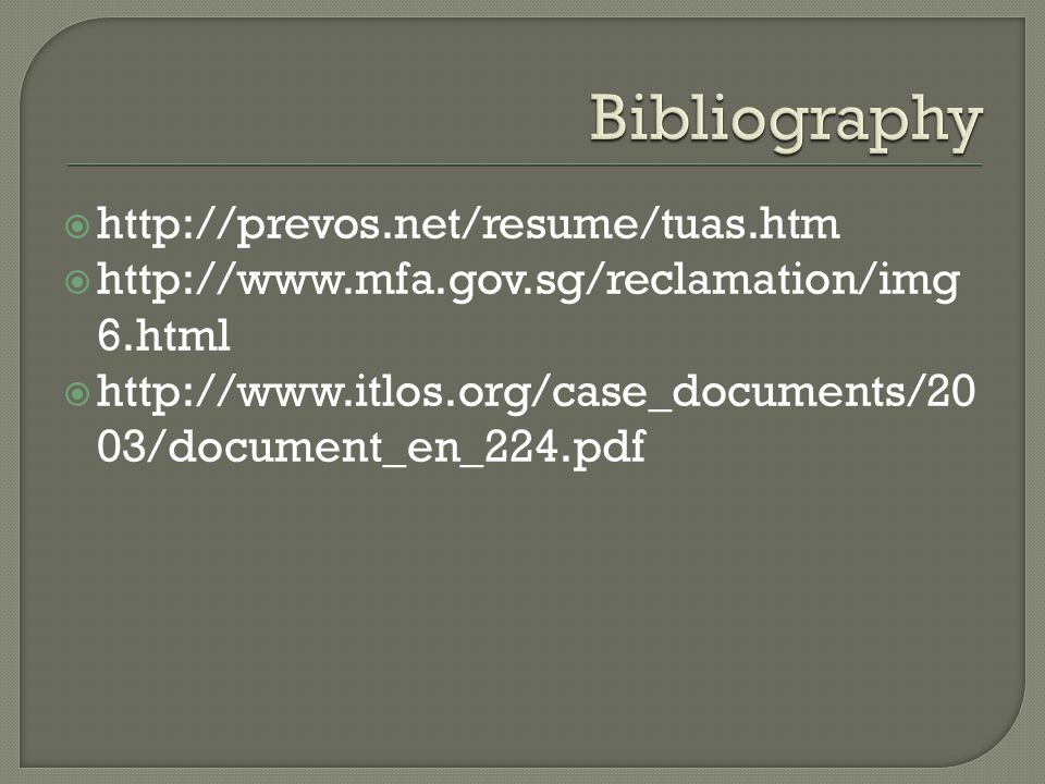 Bibliography http://prevos.net/resume/tuas.htm