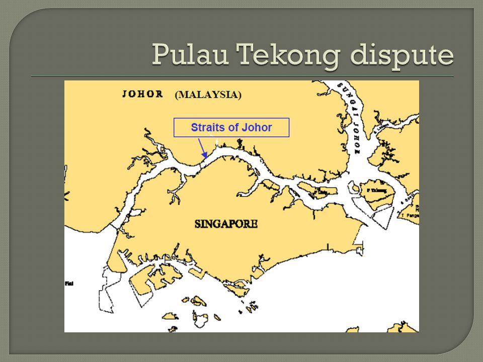 Pulau Tekong dispute