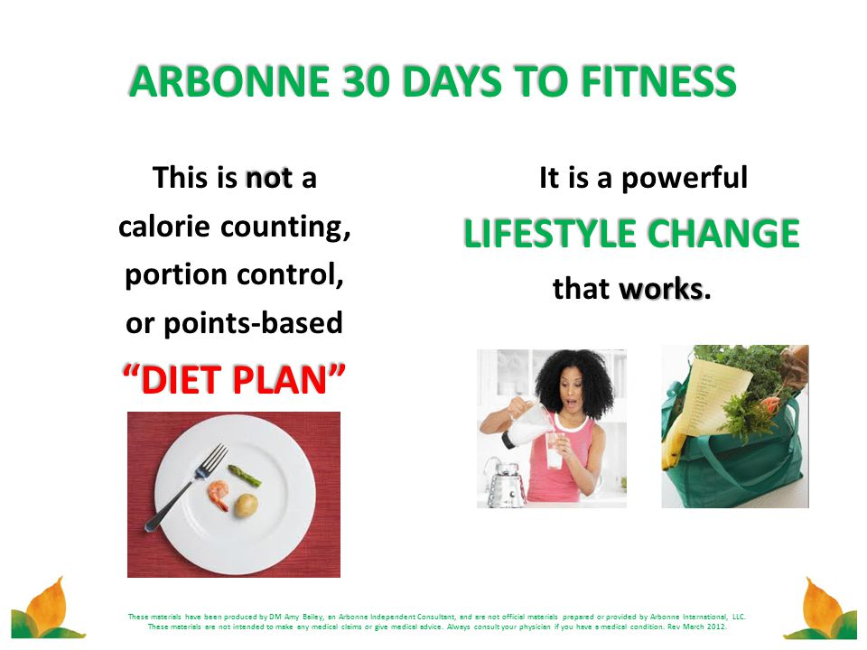 ARBONNE 30 DAYS TO FITNESS