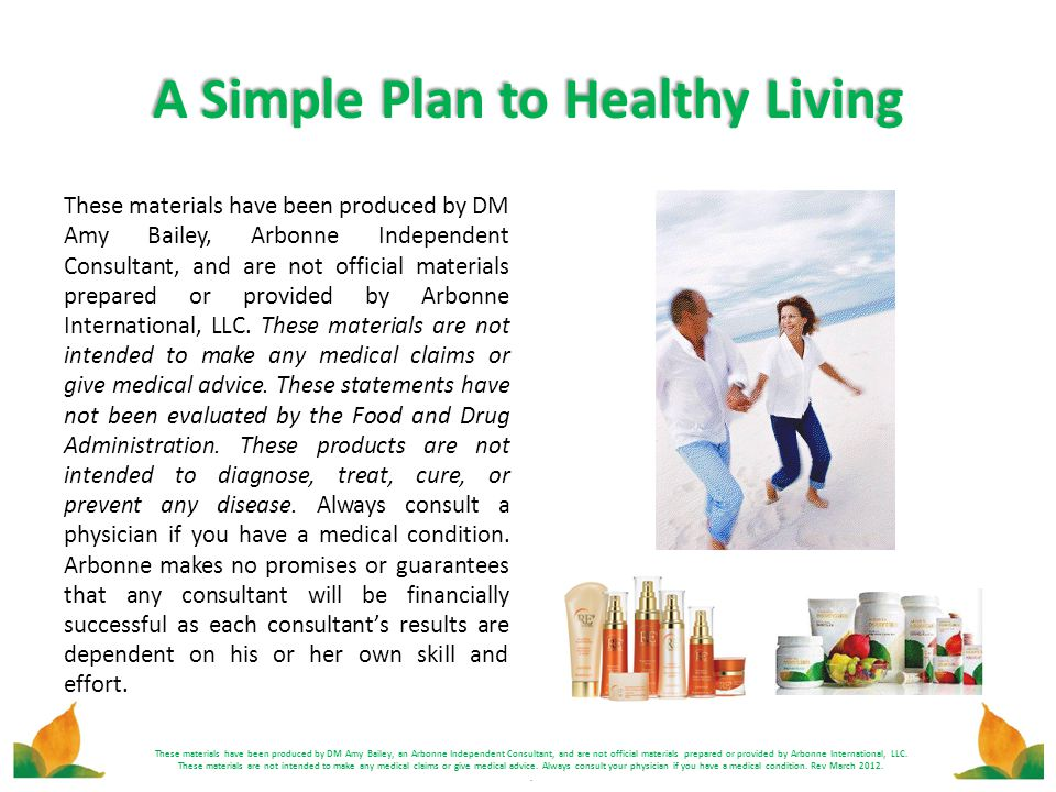 A Simple Plan to Healthy Living