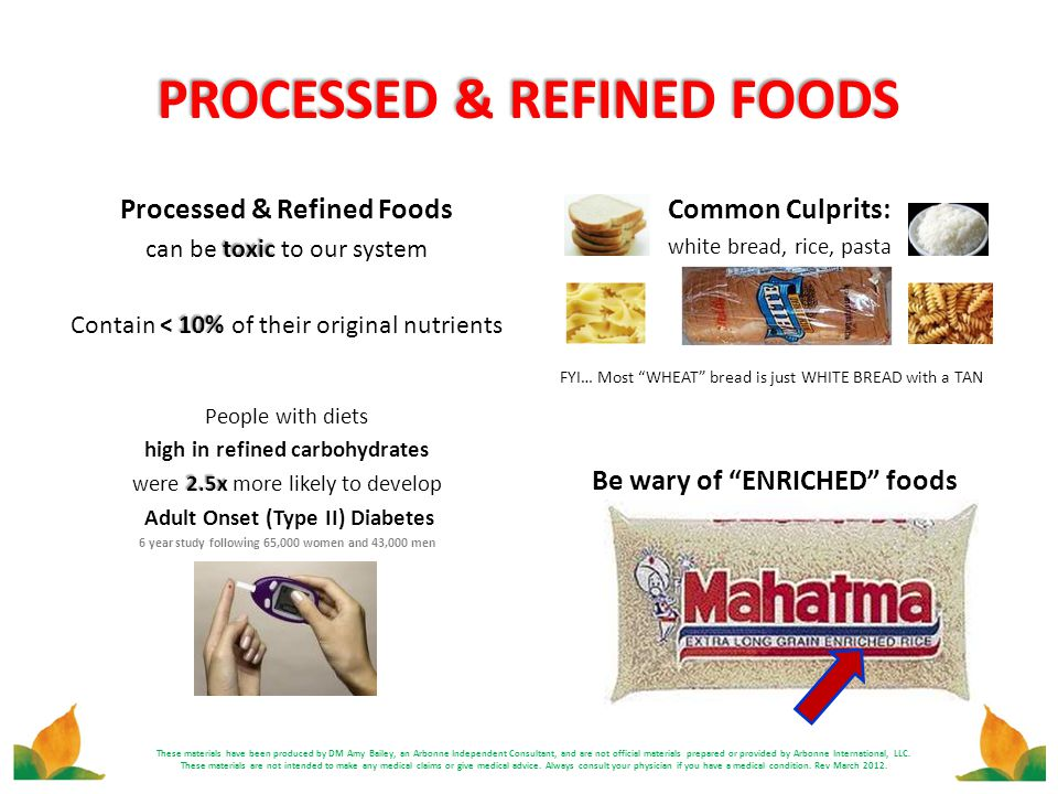 PROCESSED & REFINED FOODS
