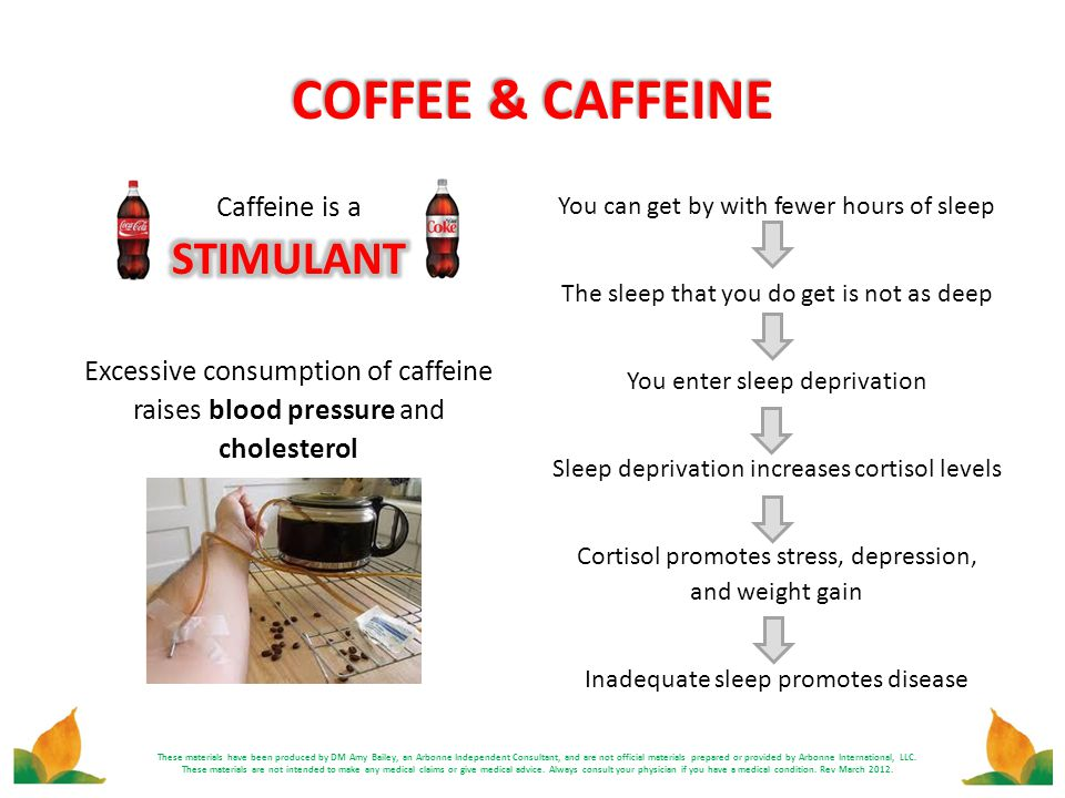 COFFEE & CAFFEINE STIMULANT Caffeine is a