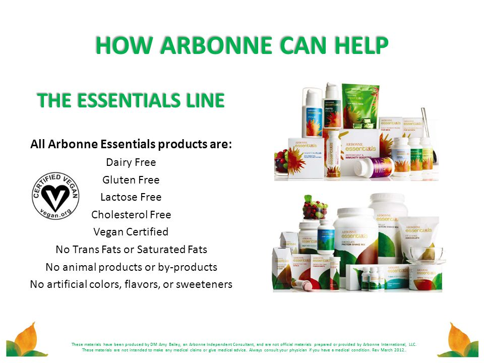 All Arbonne Essentials products are: