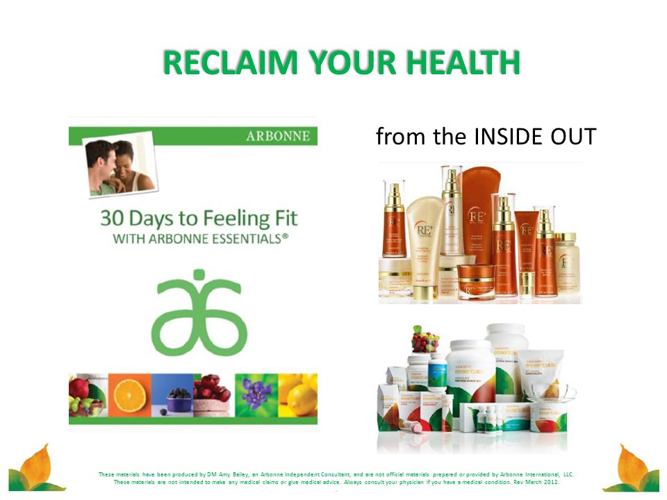 RECLAIM YOUR HEALTH from the INSIDE OUT