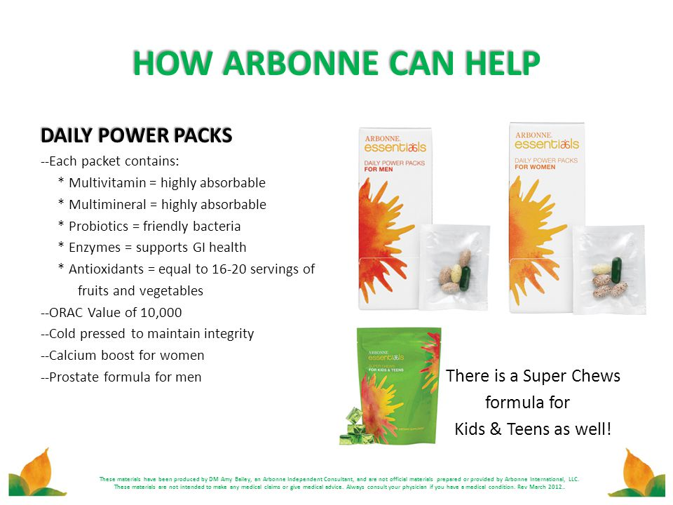 HOW ARBONNE CAN HELP DAILY POWER PACKS