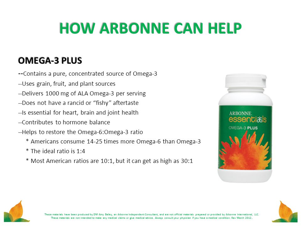 HOW ARBONNE CAN HELP OMEGA-3 PLUS
