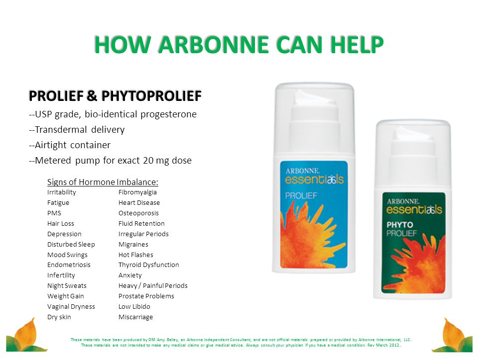 HOW ARBONNE CAN HELP PROLIEF & PHYTOPROLIEF