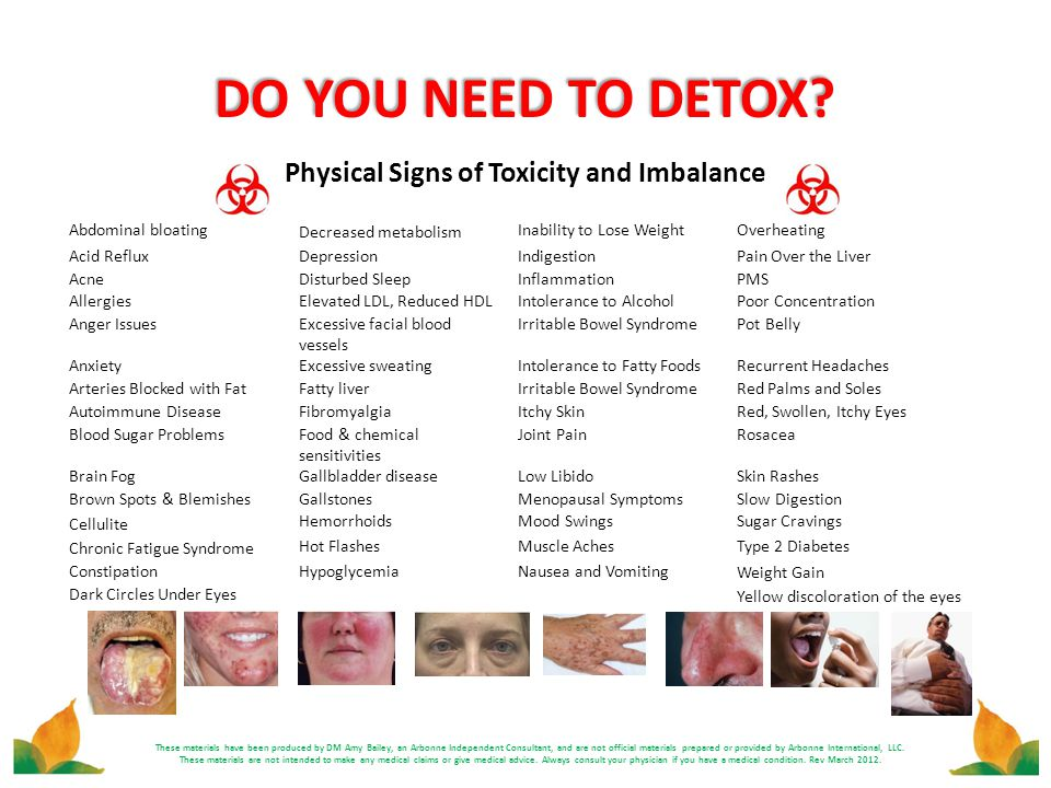 Physical Signs of Toxicity and Imbalance