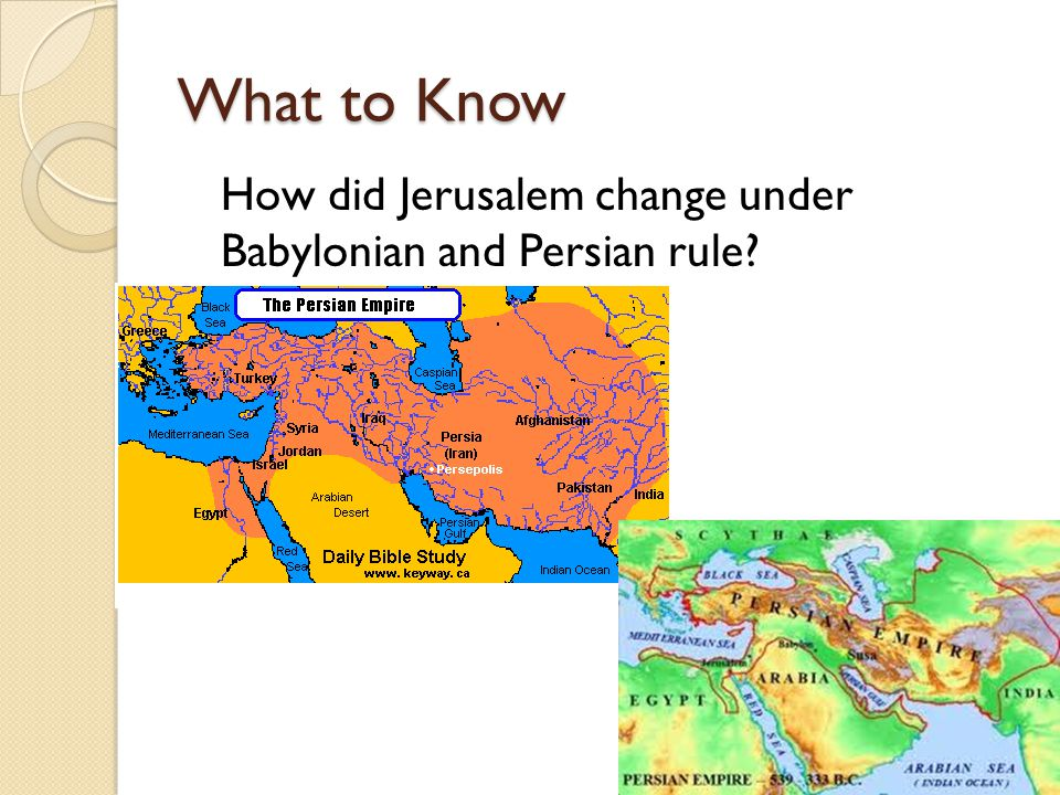 What to Know How did Jerusalem change under Babylonian and Persian rule