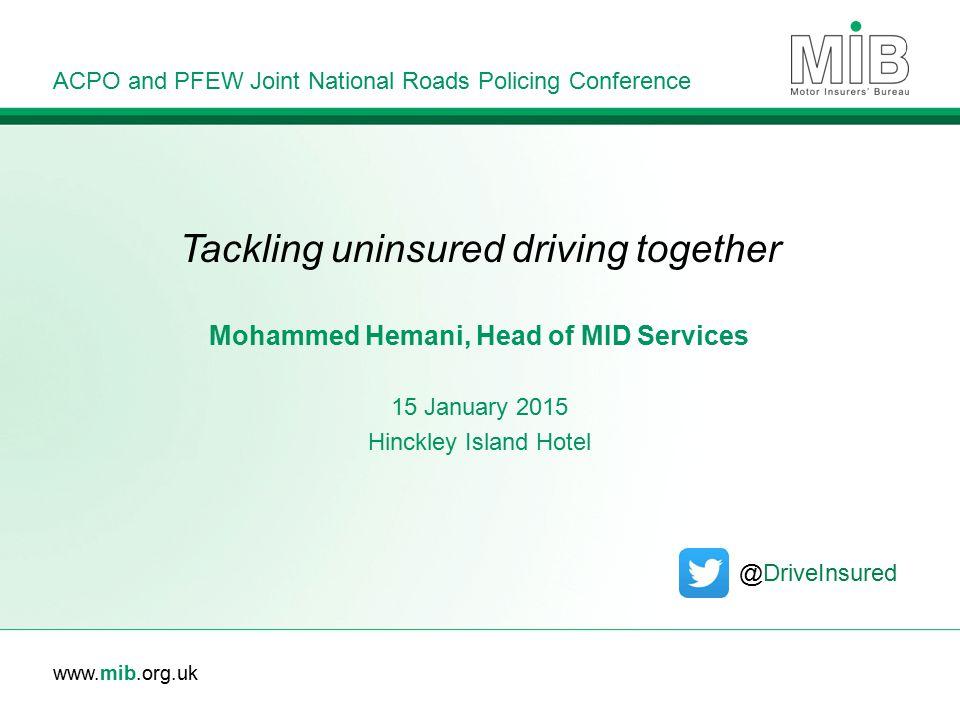 Tackling uninsured driving together