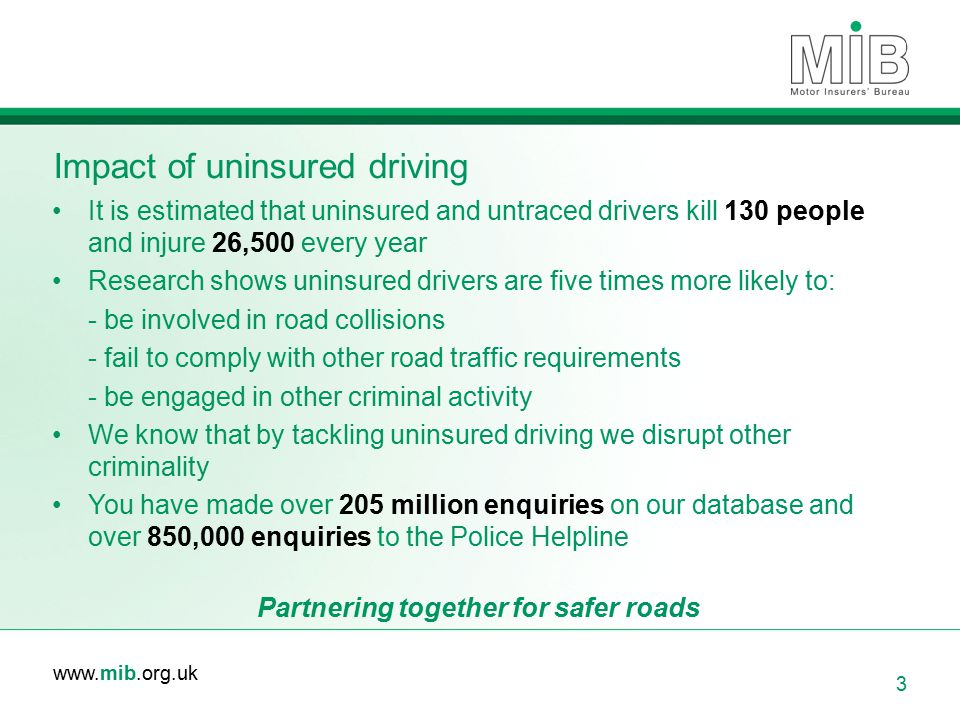 Impact of uninsured driving