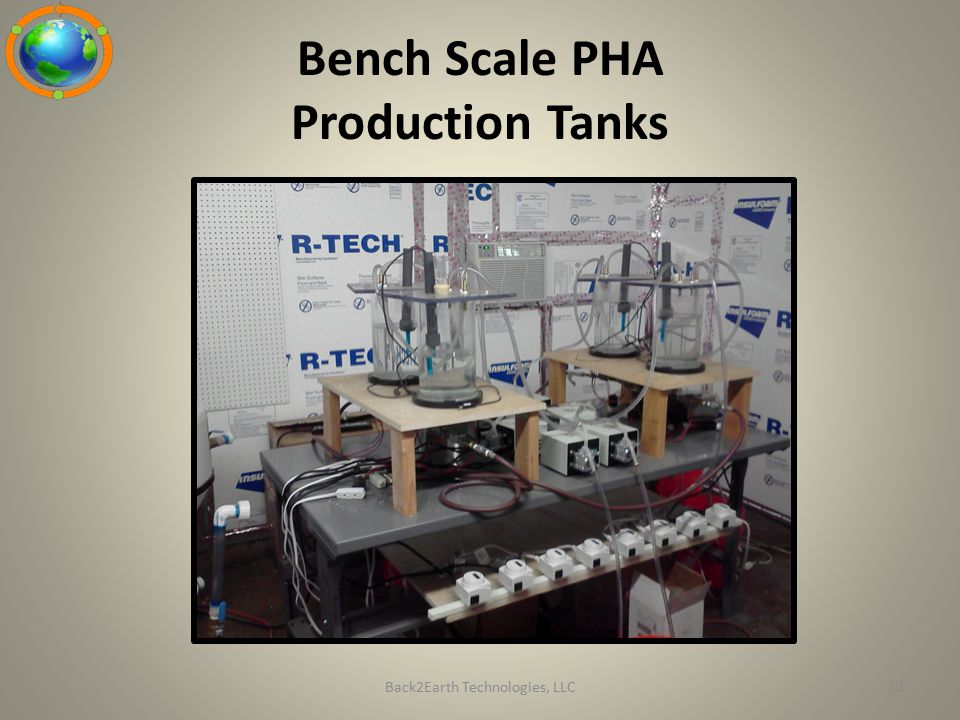 Bench Scale PHA Production Tanks