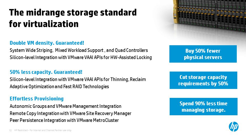 The midrange storage standard for virtualization