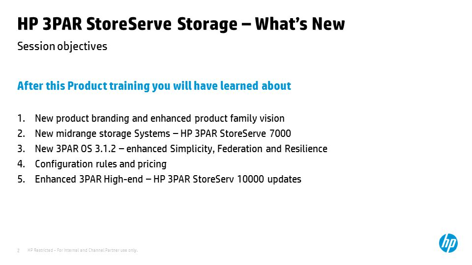 HP 3PAR StoreServe Storage – What's New