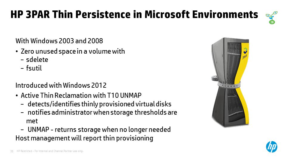 HP 3PAR Thin Persistence in Microsoft Environments