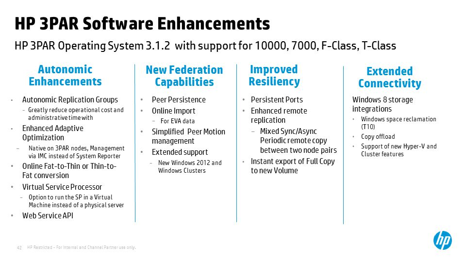HP 3PAR Software Enhancements