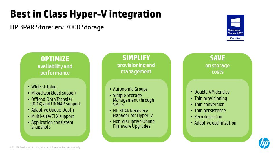 Best in Class Hyper-V integration